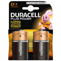 Duracell Plus Power Alkaline D Batteries 2 Pack