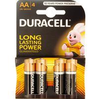 Duracell Basic AA 4 Pack Alkaline Batteries