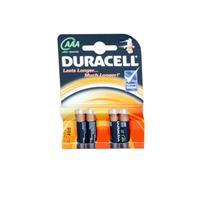 Duracell Basic AAA 4 Pack Alkaline Batteries