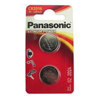 Panasonic Coin Cell CR2016 Lithium Batteries 2 Pack