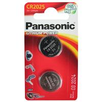 Panasonic Coin Cell CR2025 2 Pack Lithium Batteries