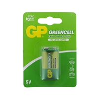 GP Greencell Zinc Pack of 1 9V Batteries