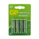 GP Greencell Zinc Pack of 4 AA Batteries