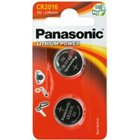 Panasonic Lithium Pack of 2 Coin Cell CR2016 Batteries