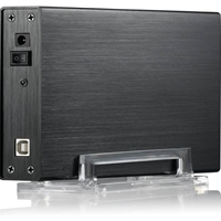 "EVO E-U35FS 3.5"" Sata USB 2.0 Slim External Hard Drive Enclosure Black Colour"