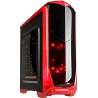 Kolink Aviator Midi Tower Gaming Case - Red Aviator-rd - Tgt01