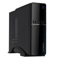 CiT S012B Micro ATX 2 x USB 2.0 Slim Black Case with 300W PSU