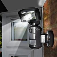 Nightwatcher 16w Led Black Robotic Security Light With 720p Camera & Sd Recorder Nw720b - Tgt01