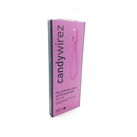 "Candywirez USB 2.0 A (M) to USB 2.0 Micro B (M) 0.15m / 6"" Pink Retail Packaged Magnetic Silicon Tangle-Free Data Cable"