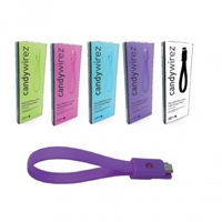 "Candywirez USB 2.0 A (M) to USB 2.0 Micro B (M) 0.15m / 6"" Purple Retail Packaged Magnetic Silicon Tangle-Free Data Cable"