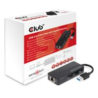 Club3D USB 3.0 3-Port Hub with Gigabit Ethernet