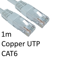 RJ45 (M) to RJ45 (M) CAT6 1m White OEM Moulded Boot Copper UTP Network Cable
