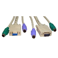 2x Male-Male PS/2 1x Male-Female SVGA, 3m Cable