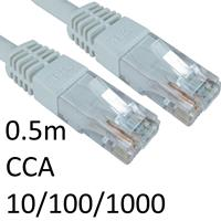 RJ45 (M) to RJ45 (M) CAT6 0.5m White OEM Moulded Boot Network Cable