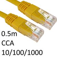 RJ45 (M) to RJ45 (M) 10/100/1000 Network 6 0.5m Yellow OEM Moulded Boot CCA Economy Network Cable