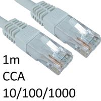 RJ45 (M) to RJ45 (M) CAT6 1m White OEM Moulded Boot Network Cable