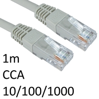 RJ45 (M) to RJ45 (M) CAT6 1m Grey OEM Moulded Boot Network Cable