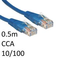 RJ45 (M) to RJ45 (M) 10/100 Network 5e 0.5m Blue OEM Moulded Boot CCA Economy Network Cable
