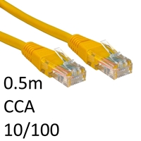 RJ45 (M) to RJ45 (M) CAT5e 0.5m Yellow OEM Moulded Boot Network Cable
