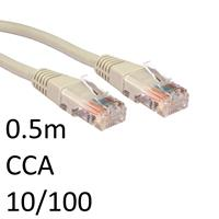 RJ45 (M) to RJ45 (M) CAT5e 0.5m Grey OEM Moulded Boot Network Cable
