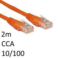 RJ45 (M) to RJ45 (M) 10/100 Network 5e 1m Orange OEM Moulded Boot CCA Economy Network Cable