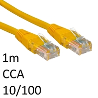 RJ45 (M) to RJ45 (M) 10/100 Network 5e 1m Yellow OEM Moulded Boot CCA Economy Network Cable