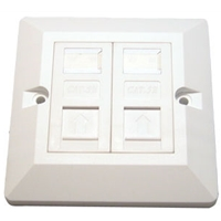 CAT5e Wall Mount Double Faceplate Module Kits