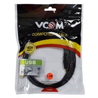 VCOM USB 2.0 A (M) to USB 2.0 A (M) 1.8m Black Retail Packaged Data Cable