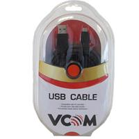 VCOM USB 2.0 A (M) to USB 2.0 Mini B (M) 5m Black Retail Packaged Data Cable