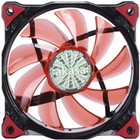 Akasa Vegas AK-FN091-RD 120mm 1200RPM Red LED Ultra Quiet Case Fan