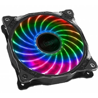 Akasa Vegas 7 AK-FN092 120mm 1200RPM 7 Colour LED Ultra Quiet Case Fan