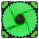 Evo Labs Vegas 12cm 9 Blade 32 x LED Green Fan 1000rpm with Rubb