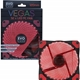 Evo Labs Vegas 12cm 9 Blade 32 x LED Red Fan 1000rpm with Rubber