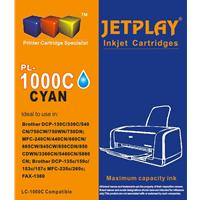 Jetplay PL-LC1000C Brother Compatible Cyan Replacement Ink