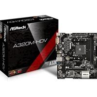 ASRock A320M-HDV AMD Socket AM4 Ryzen Micro ATX DDR4 D-Sub/DVI-D/HDMI Ultra M.2 USB 3.1 Motherboard