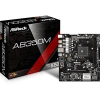 Asrock Ab350m Amd Socket Am4 Ryzen Micro Atx Ddr4 M.2/ultra M.2 Usb 3.0 Motherboard Ab350m - Tgt01