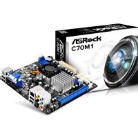 Asrock C70m1 Embedded Amd Cpu Dual Core Ontario C-70 Mini-itx Ddr3 Vga Motherboard C70m1 - Tgt01