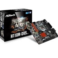 Asrock H110m-dvs (rev 3.0) Intel Socket 1151 Micro Atx Ddr4 D-sub/dvi-d Usb 3.0 Motherboard H110m-dvs R3.0 - Tgt01