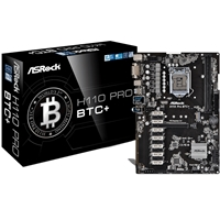 ASRock H110 Pro BTC+ Intel Socket 1151 ATX DDR4 DVI-D M.2 USB 3.1 Crypto Mining Motherboard