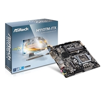 ASRock H110TM-ITX Intel Socket 1151 Thin Mini-ITX DDR4 SO-DIMM DVI-D/HDMI M.2 USB 3.0 Motherboard