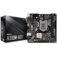 ASRock H310M-HDV Intel Socket 1151 Coffee Lake Micro ATX DDR4 D-Sub/DVI-D/HDMI USB 3.1 Motherboard