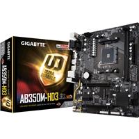 Gigabyte GA-AB350M-HD3 (rev. 1.0) AMD Socket AM4 Ryzen Micro ATX DDR4 D-Sub/DVI-D/HDMI M.2 USB 3.1 Motherboard
