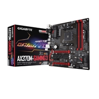 Gigabyte GA-AX370M-Gaming 3 AMD Socket AM4 Ryzen Micro ATX DDR4 D-Sub/DVI-D/HDMI M.2 USB 3.1 Motherboard