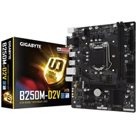 Gigabyte GA-B250M-D2V Intel Socket 1151 Kaby Lake Micro ATX DDR4 D-Sub/DVI-D USB 3.1 Motherboard