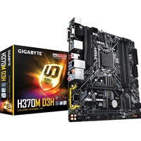 Gigabyte H370M D3H Intel Socket 1151 Coffee Lake Micro ATX DDR4 D-Sub/DVI-D/HDMI M.2 USB 3.1 Type-C Motherboard