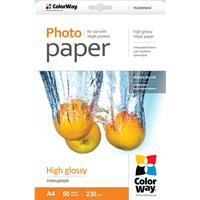 ColorWay Print High Glossy A4 230gsm Photo Paper 50 Sheets