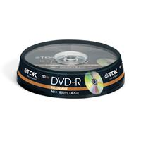 Tdk Dvd-r 16x 10 Pk Spindle T19415 - Tgt01