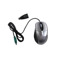Evo Labs E520CBS Silver USB/ PS2 Combo Full Size Optical Mouse