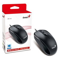 Genius Dx-110 Black Usb Full Size Optical Mouse 31010116100 - Tgt01