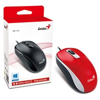 Genius Dx-110 Red Usb Full Size Optical Mouse 31010116104 - Tgt01